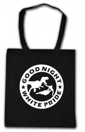 Baumwoll-Tragetasche: Good night white pride - Dinosaurier