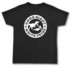 Fairtrade T-Shirt: Good night white pride - Dinosaurier