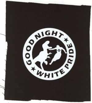 Aufnäher: Good night white pride - Dinosaurier