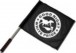Fahne / Flagge (ca. 40x35cm): Good night white pride - Dinosaurier