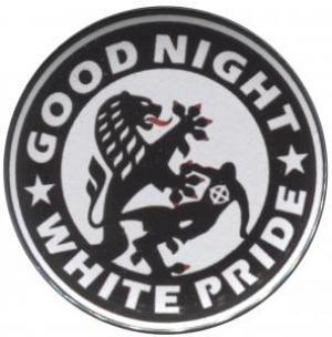 50mm Button: Good night white pride (Dresden)