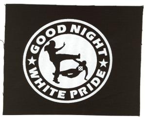 Aufnäher: Good night white pride (dünner Rand)
