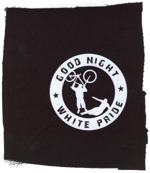 Aufnäher: Good Night White Pride - Fahrrad