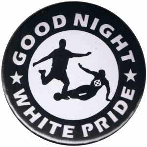 50mm Button: Good night white pride - Fußball