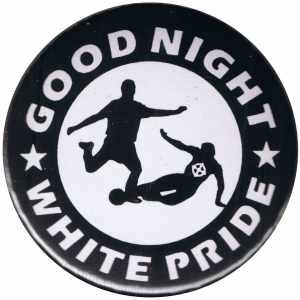 37mm Magnet-Button: Good night white pride - Fußball