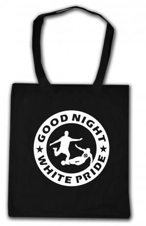 Baumwoll-Tragetasche: Good night white pride - Fußball
