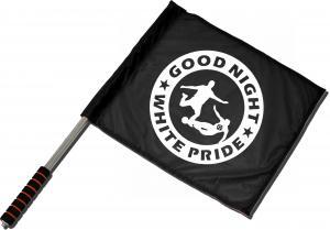 Fahne / Flagge (ca. 40x35cm): Good night white pride - Fußball
