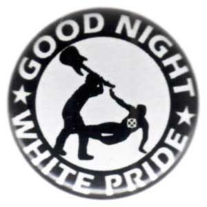 50mm Magnet-Button: Good night white pride - Gitarre
