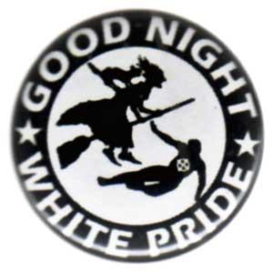 25mm Button: Good night white pride - Hexe