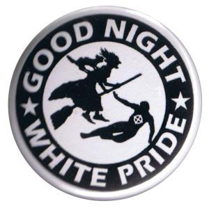 37mm Button: Good night white pride - Hexe