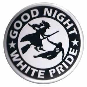 50mm Button: Good night white pride - Hexe