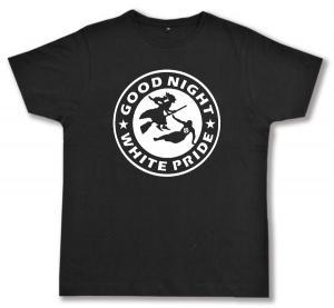 Fairtrade T-Shirt: Good night white pride - Hexe