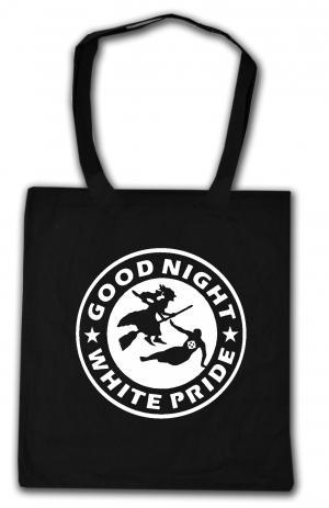 Baumwoll-Tragetasche: Good night white pride - Hexe