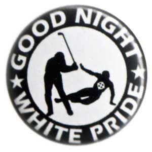 37mm Magnet-Button: Good night white pride - Hockey