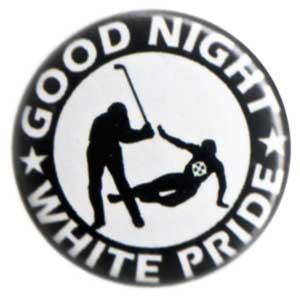 50mm Button: Good night white pride - Hockey
