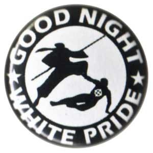 25mm Button: Good night white pride - Ninja