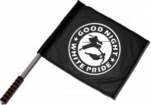 Fahne / Flagge (ca. 40x35cm): Good night white pride - Ninja