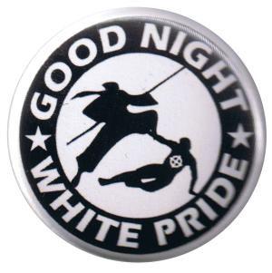 37mm Magnet-Button: Good night white pride - Ninja