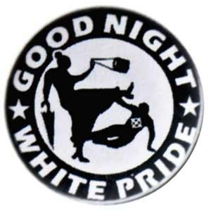 25mm Button: Good Night White Pride - Oma