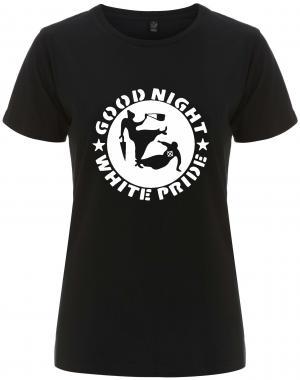 tailliertes Fairtrade T-Shirt: Good Night White Pride - Oma