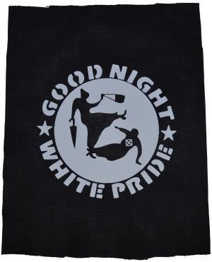 Rückenaufnäher: Good Night White Pride - Oma