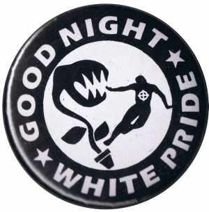 25mm Button: Good night white pride - Pflanze