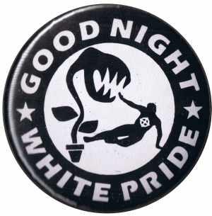 37mm Button: Good night white pride - Pflanze