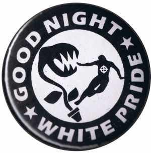 25mm Magnet-Button: Good night white pride - Pflanze