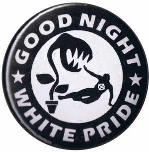 37mm Magnet-Button: Good night white pride - Pflanze