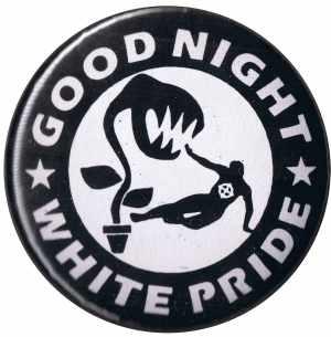 50mm Button: Good night white pride - Pflanze