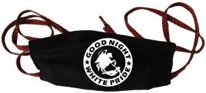 Mundmaske: Good night white pride - Reiter