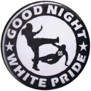 37mm Button: Good night white pride (schwarz/weiß)