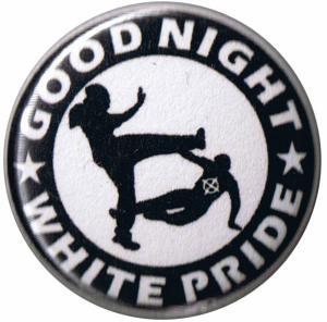 50mm Magnet-Button: Good night white pride (schwarz/weiß)