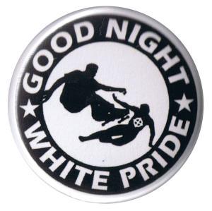 37mm Button: Good night white pride - Skater