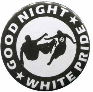 50mm Magnet-Button: Good night white pride - Skater