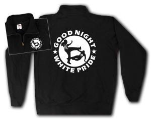 Sweat-Jacket: Good Night White Pride