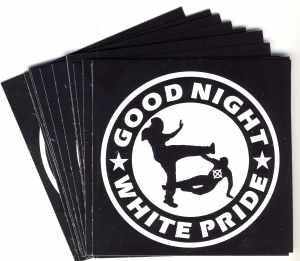 Aufkleber-Paket: Good night white pride