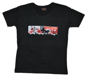 tailliertes T-Shirt: Graff Train