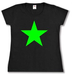 tailliertes T-Shirt: Grüner Stern