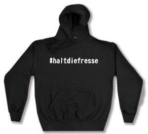 Kapuzen-Pullover: #haltdiefresse