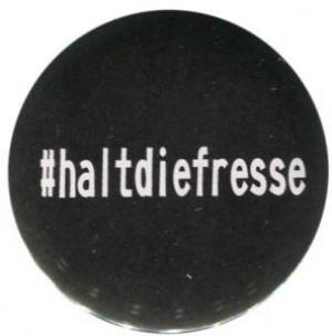 25mm Magnet-Button: #haltdiefresse