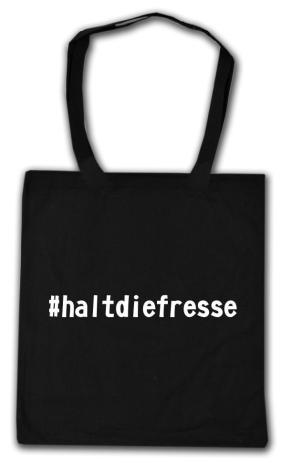 Baumwoll-Tragetasche: #haltdiefresse