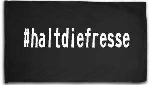 Fahne / Flagge (ca. 150x100cm): #haltdiefresse