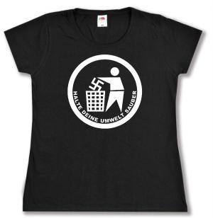 tailliertes T-Shirt: Halte Deine Umwelt sauber