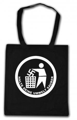 Baumwoll-Tragetasche: Halte Deine Umwelt sauber