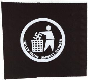 Aufnäher: Halte Deine Umwelt sauber