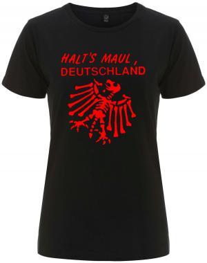 tailliertes Fairtrade T-Shirt: Halt's Maul Deutschland