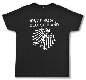 Fairtrade T-Shirt: Halt's Maul Deutschland (weiß)