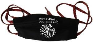 Mundmaske: Halt's Maul Deutschland (weiß)