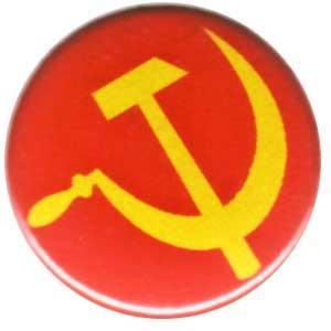 25mm Magnet-Button: Hammer und Sichel